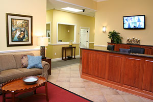 The lobby of the North Myrtle Beach Business Center